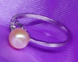 Bague en perle blanche/rose/lavande,vermeil | 28