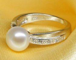 Bague en perle blanche/rose/lavande,vermeil | 30