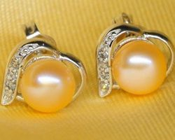 Boucles d'oreilles en perle blanche/rose/lavande,vermeil | 33