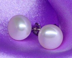 Boucles d'oreilles en perle blanche/rose/lavande,vermeil | 34