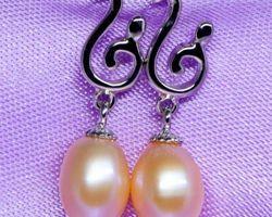 Boucles d'oreilles en perle blanche/rose,vermeil | 37