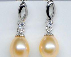 Boucles d'oreilles en perle blanche/rose | 38