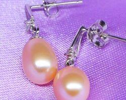 Boucles d'oreilles en perle blanche/rose/lavande | 40