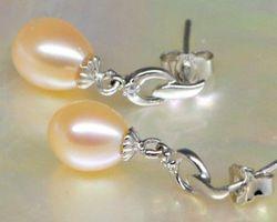 Boucles d'oreilles en perle blanche/rose/lavande | 41