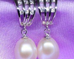 Boucles d'oreilles en perle blanche | 42