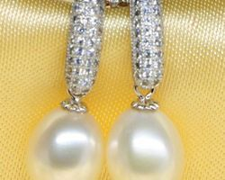 Boucles d'oreilles en perle blanche | 43
