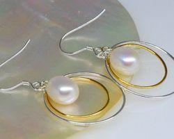 Boucles d'oreilles en perle blanche | 44