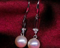 Boucles d'oreilles en perle blanche | 45