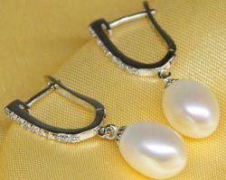 Boucles d'oreilles en perle blanche | 49