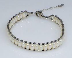 Bracelet en perle blanche | 57
