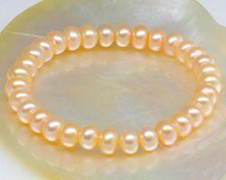 Bracelet en perle blanche/rose/multi-couleur