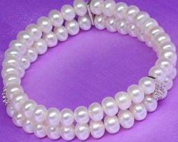 Bracelet en perle blanche | 58