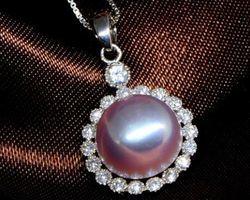 Pendentif en perle blanche/rose/lavande | 60
