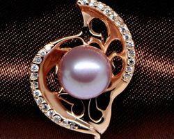 Pendentif en perle blanche/rose/lavande | 61