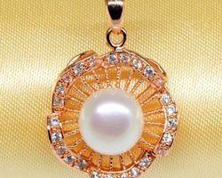 Pendentif en perle blanche/rose/lavande | 62