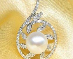 Pendentif en perle blanche | 66