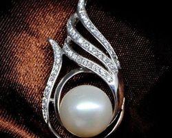 Pendentif en perle blanche | 67