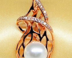 Pendentif en perle blanche | 69