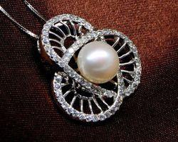 Pendentif en perle blanche/rose/lavande | 70