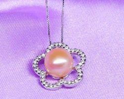Pendentif en perle blanche/rose/lavande | 71