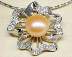 Pendentif en perle rose