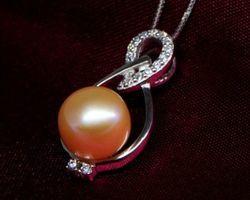 Pendentif en perle blanche/rose | 76