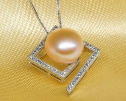 Pendentif en perle blanche/rose/lavande | 77