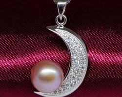 Pendentif en perle blanche/rose/lavande | 78