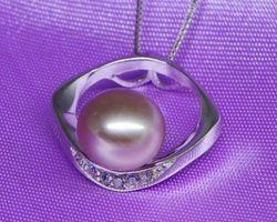 Pendentif en perle blanche/rose/lavande | 79