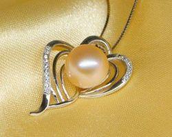 Pendentif en perle blanche/rose/lavande   80