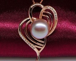 Pendentif en perle blanche/rose/lavande | 80