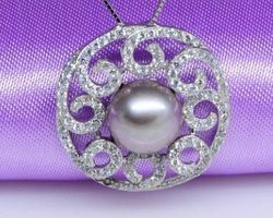 Pendentif en perle blanche/rose/lavande | 81