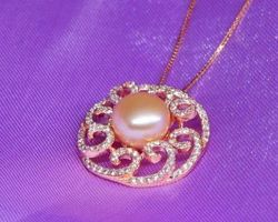 Pendentif en perle blanche/rose/lavande   81