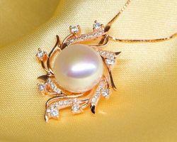 Pendentif en perle blanche/rose/lavande | 83
