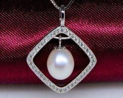 Pendentif en perle blanche | 84