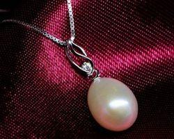 Pendentif en perle blanche | 87