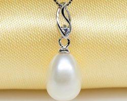 Pendentif en perle blanche | 89