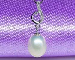 Pendentif en perle blanche | 91