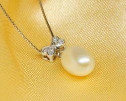 Pendentif en perle blanche | 92