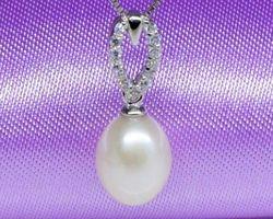 Pendentif en perle blanche | 93