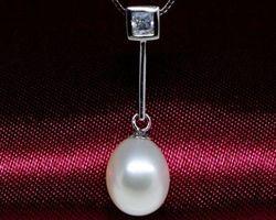 Pendentif en perle blanche | 99