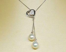 Colier de perle blanche
