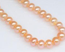 Colier de perle blanche/rose/lavande