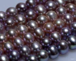 Colier de perle blanche/rose/lavande   112