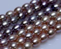 Colier de perle blanche/lavande | 121