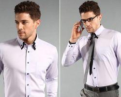 Chemise pour Homme col classique de couleur avec revers