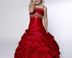 Robes pour petite demoiselle d|honneur rouge