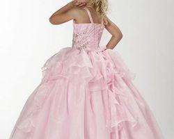 Robes pour petite demoiselle d|honneur rose clair